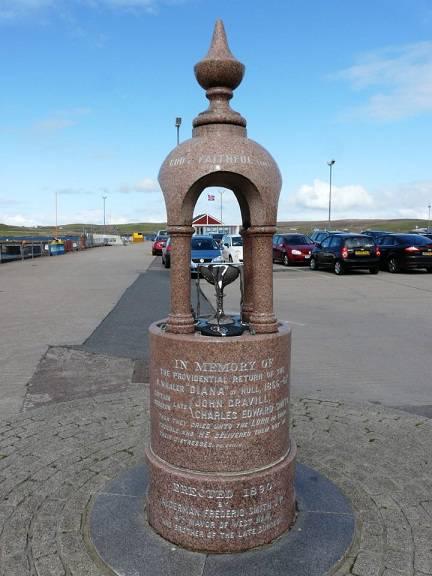 Een monument voor omgekomen vissers