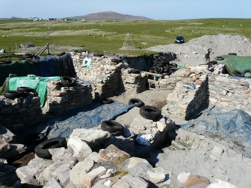 De opgraving bij Browster House
