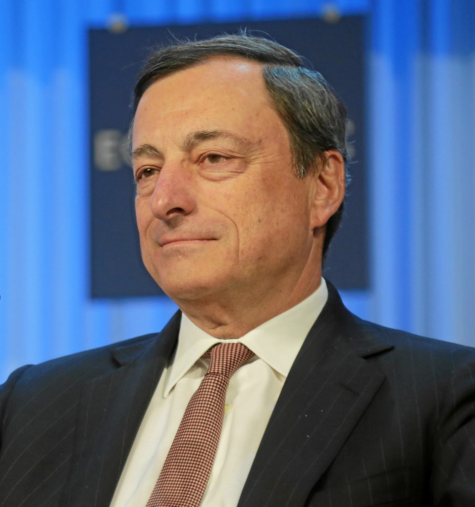 DAVOS/SWITZERLAND, 25JAN13 - Mario Draghi, President, European Central Bank, Frankfurt is captured during the special address session at the Annual Meeting 2013 of the World Economic Forum in Davos, Switzerland, January 25, 2013.  Copyright by World Economic Forum swiss-image.ch/Photo Remy Steinegger